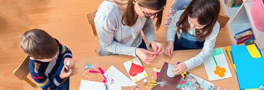 Activités manuelles pour l'éveil des enfants